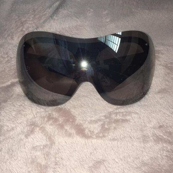 6ffc3c676af3 Chanel Runway Shield Sunglasses 71236